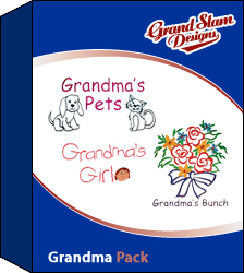Grandma Package embroidery design Collection