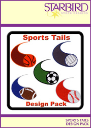 Sports Tails Design Pack embroidery design Collection
