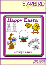 Happy Easter Design Pack embroidery design Collection