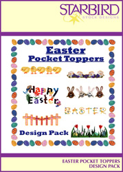 Easter Pocket Toppers Design Pack embroidery design Collection