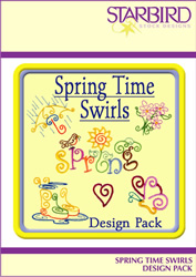 Spring Time Swirls embroidery design Collection