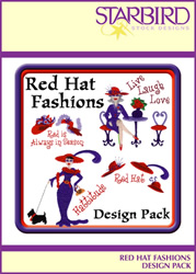 Red Hat Fashions Design Pack embroidery design Collection