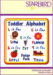 Toddler Alphabet Design Pack embroidery design Collection