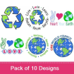 Mother Earth 3 (10 Pack) embroidery design pack