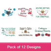 Christmas Kitchen Sayings embroidery design pack