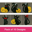 Halloween Cats embroidery design pack