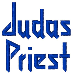 Judas Priest embroidery font