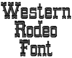Western embroidery font