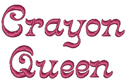 Crayonnette embroidery font