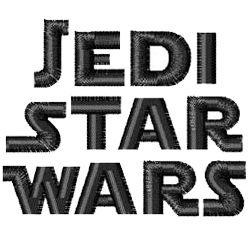 Jedi Star Wars embroidery font