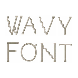 Wavy Font embroidery font