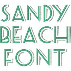 Embroidery Patterns Styles Embroidery Patterns Embroidery Fonts Sandy Beach Font 0 75 Inches H