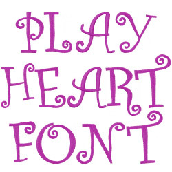 Playful at heart embroidery font