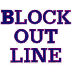 Block outline embroidery font