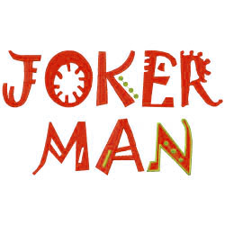 Jokerman Fun Font embroidery font