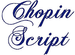 Chopin Script embroidery font