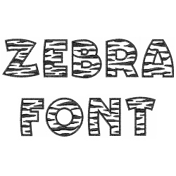 Zebra Font embroidery font