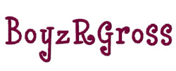 Boyz R Gross embroidery font