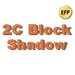 2C Block Shadow embroidery font