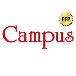 Campus embroidery font