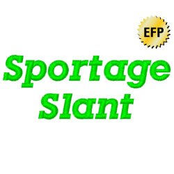 Sportage Slant embroidery font