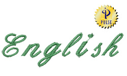 ENGLISH FONT embroidery font