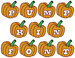 Pumpkin Monogram embroidery font