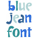 Blue Jean Font embroidery font