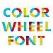 Color Wheel Font embroidery font