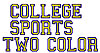 College Sports 2 Color embroidery font