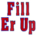 Fill Er up embroidery font