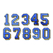 Applique Numbers embroidery font