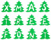 Monogram Christmas Tree embroidery font