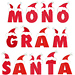 Monogram Christmas embroidery font