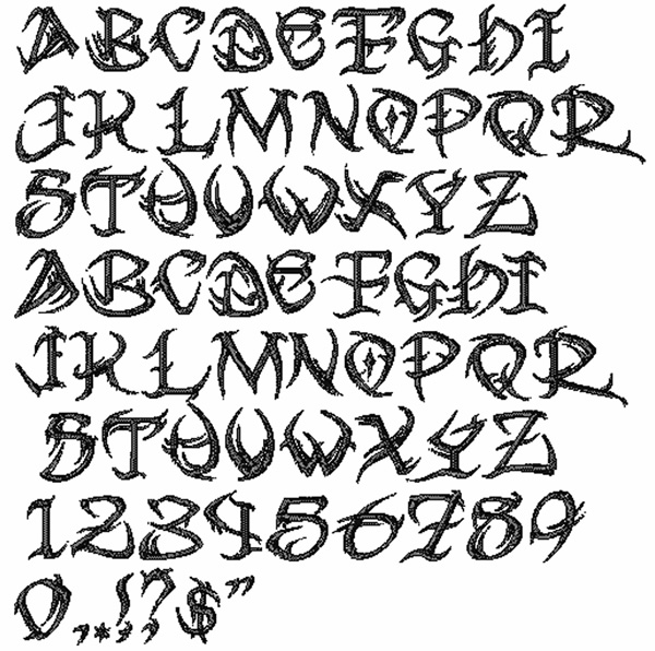 Bella Mia Designs Styles Embroidery Fonts Tribal Font 1 00 Inches H