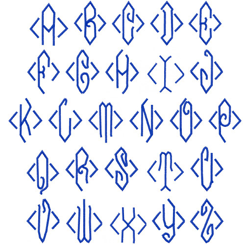 Embroidery patterns font pack monograms home
