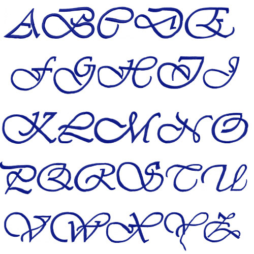 Embroidery patterns font pack script iii home