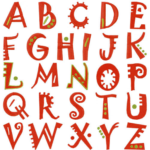 Download Embroidery Patterns Embroidery Font Pack: Fun Fonts Home ...