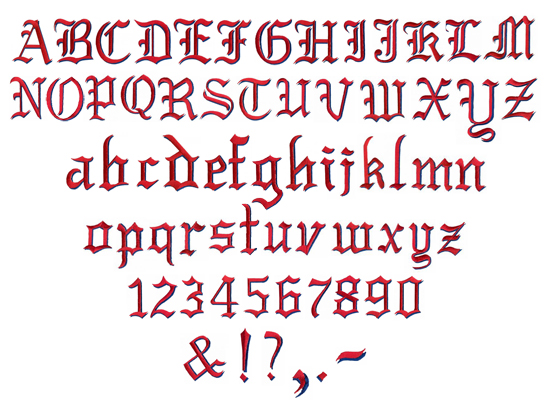 Grand Slam Designs Embroidery Font Pack Old English Home Format Fonts 2 80