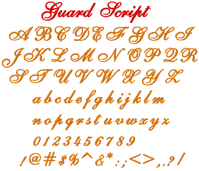 Script alphabet machine embroidery designs tattoo picture