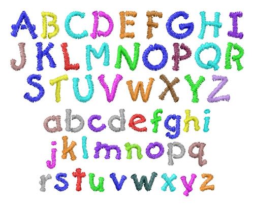 ... Designs Handwriting Embroidery Fonts: Kid Font 0.28 inches H
