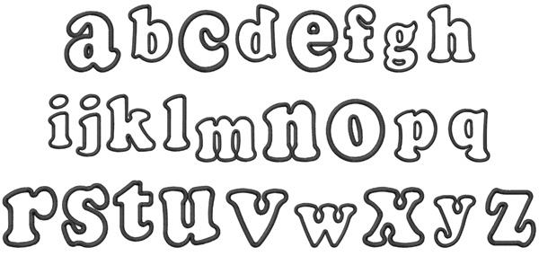 bubble style alphabet