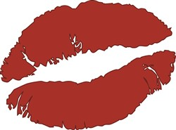 Red Lips Kiss print art design
