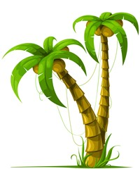 Palm Tree Plant print art design