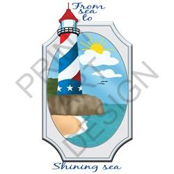 From Sea To Shining Sea print art design
