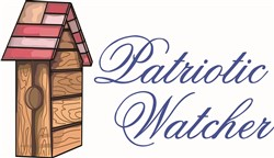 Patriotic Watcher print art design
