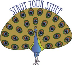 Strut Your Stuff print art design