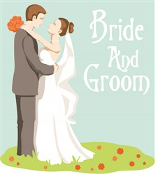 Bride and Groom print art design
