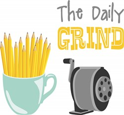 The Daily Grind print art design