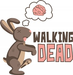 Zombie Bunny Rabbit Walking Dead print art design